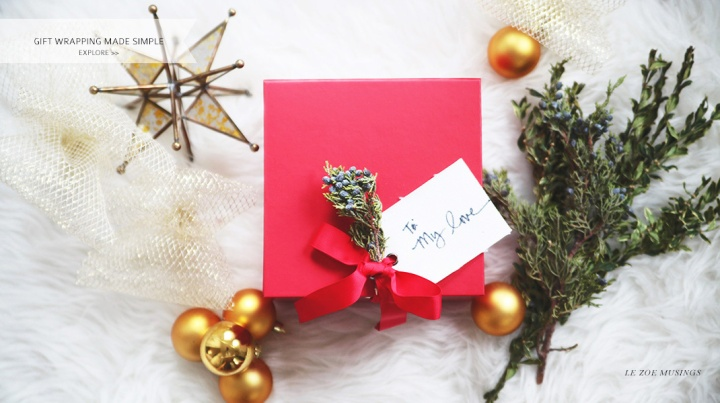 Gift Wrapping Made Simple by Le Zoe Musings Banner