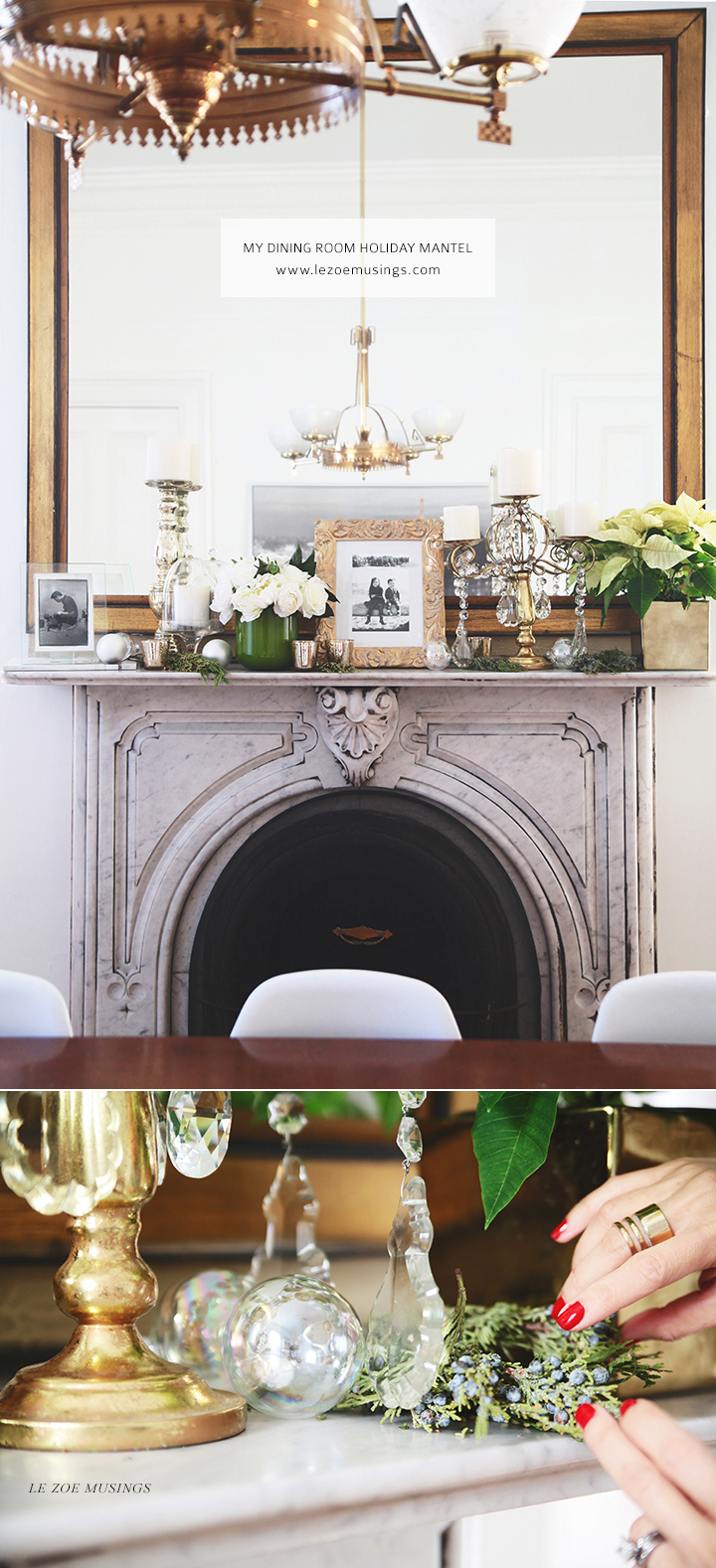 My Dining Room Holiday Mantel by Le Zoe Musings2