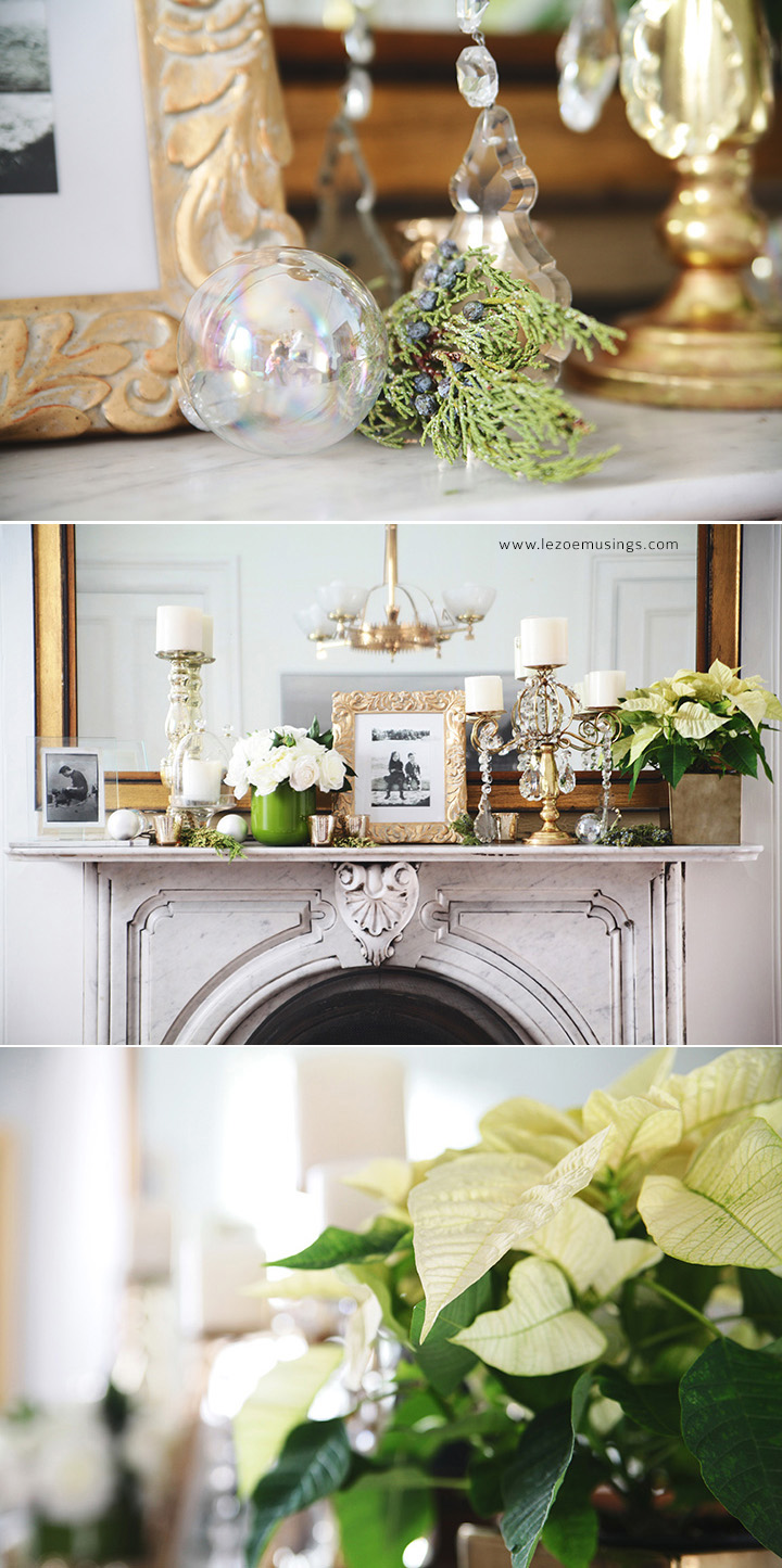 My Dining Room Holiday Mantel by Le Zoe Musings3