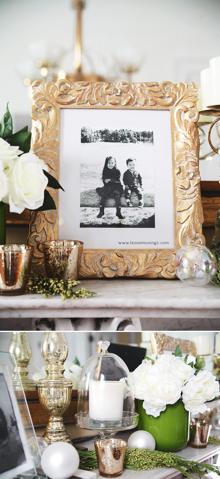 My Dining Room Holiday Mantel by Le Zoe Musings4