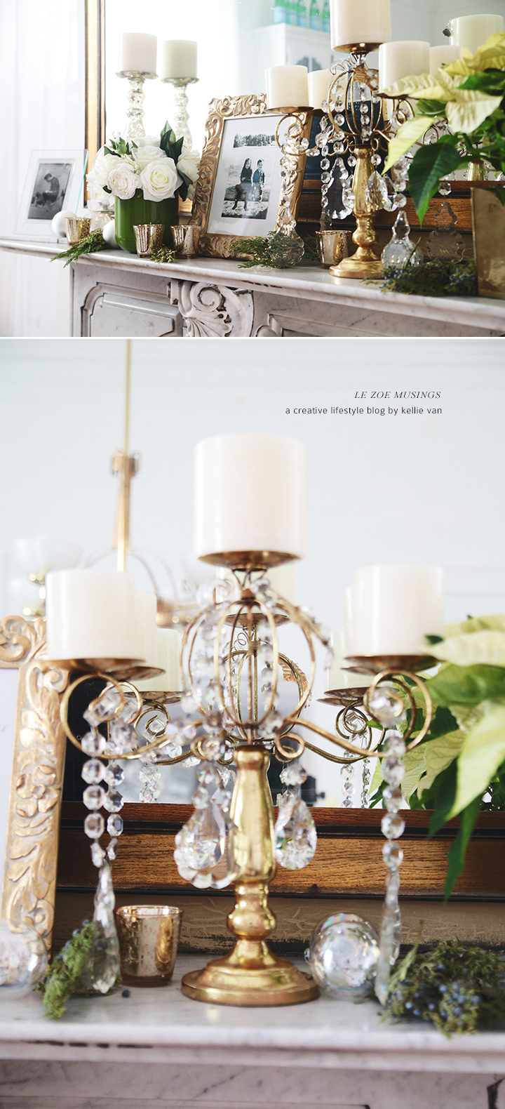 My Dining Room Holiday Mantel by Le Zoe Musings6