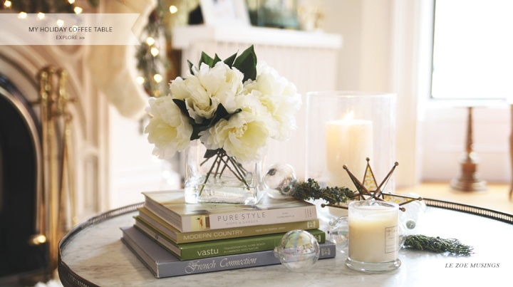 My Holiday Coffee Table by Le Zoe Musings Banner