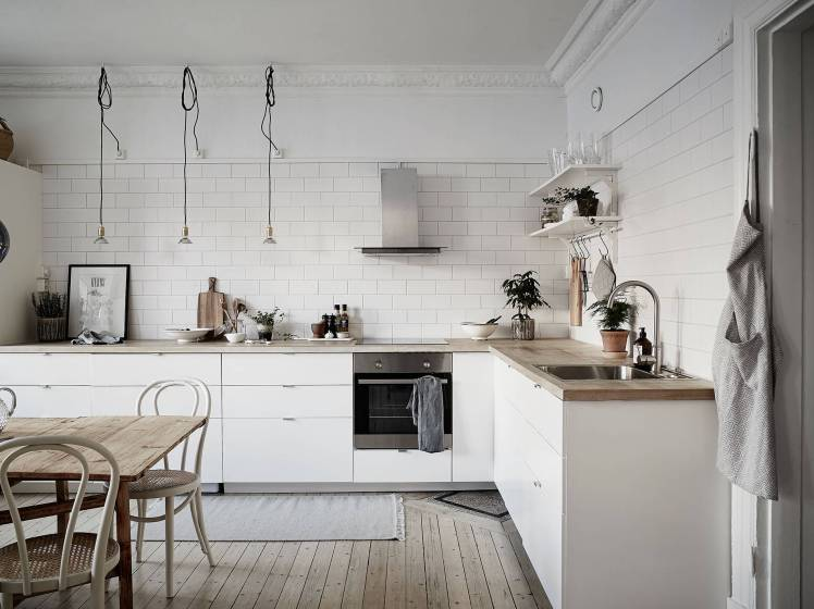 All White Swedish Apartment 1