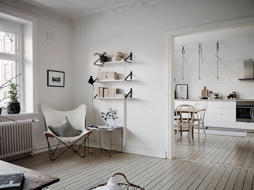 All White Swedish Apartment 11