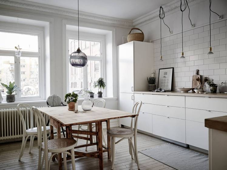 All White Swedish Apartment