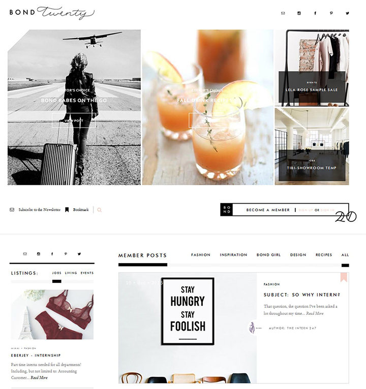 Bond Twenty Homepage by Le Zoe Musings