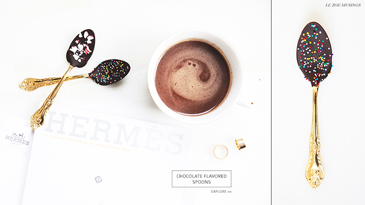 Chocolate Flavored Spoons by Le Zoe Musings