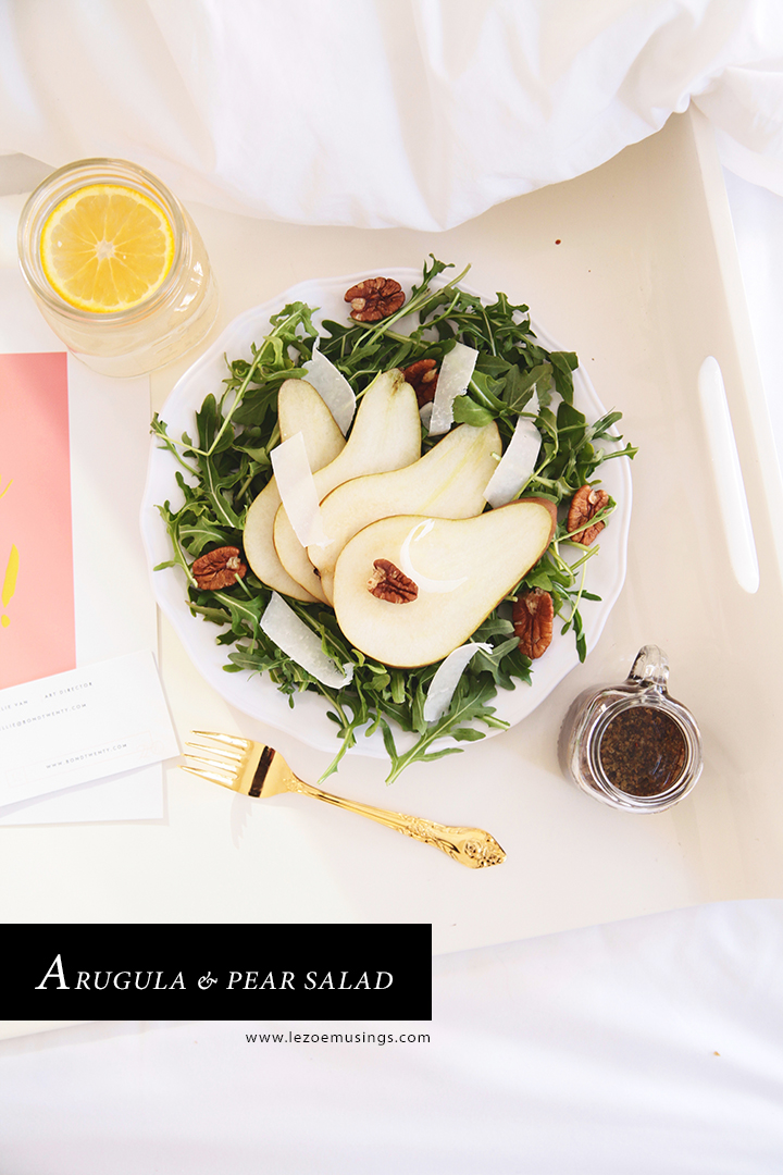 Pear Salad_Breakfast in Bed by Le Zoe Musings2