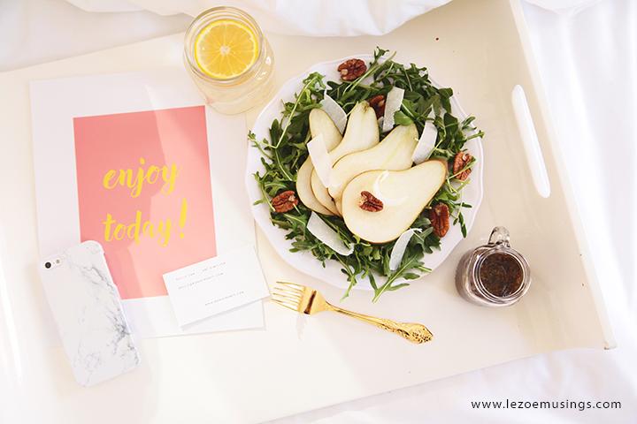 Pear Salad_Breakfast in Bed by Le Zoe Musings5