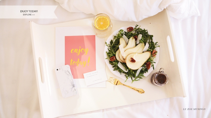 Pear Salad_Breakfast in Bed by Le Zoe Musings_BANNER