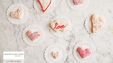 Valentine Sugar Cookies by Le Zoe Musings banner