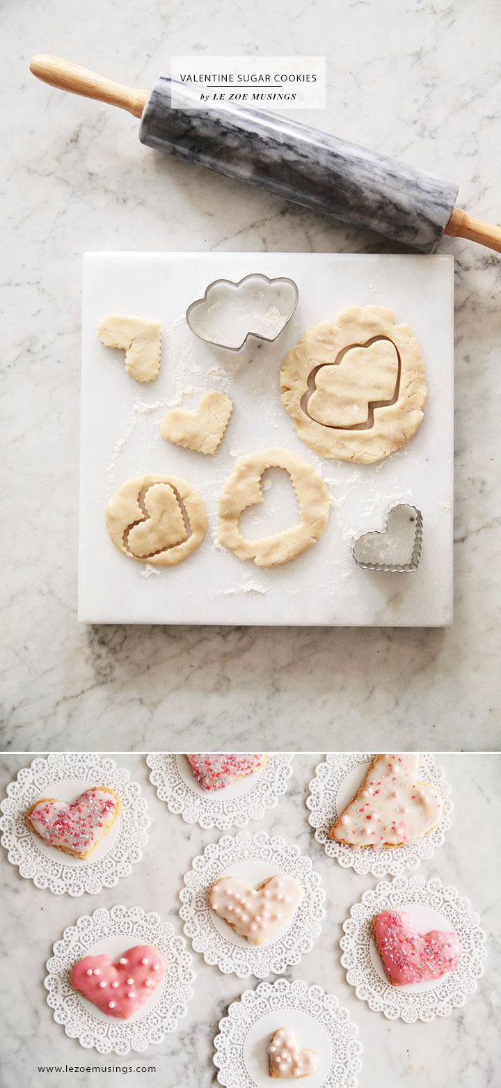 Valentine Sugar Cookies by Le Zoe Musings