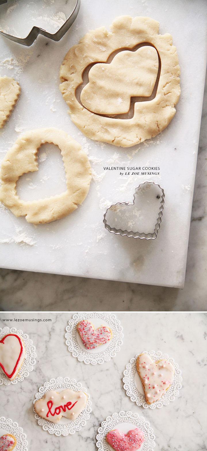 Valentine Sugar Cookies by Le Zoe Musings2
