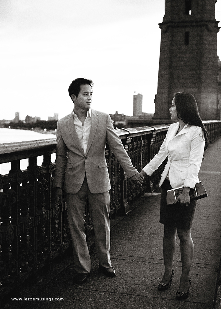 Boston engagement picture Le Zoe Musings