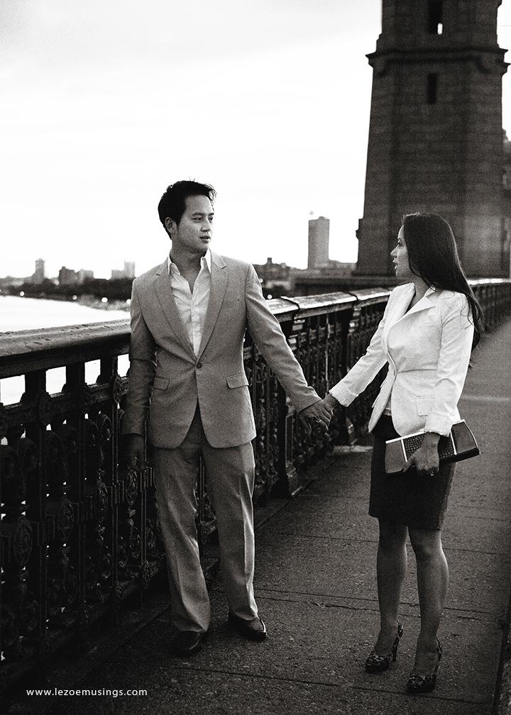 Boston engagement picture Le Zoe Musings