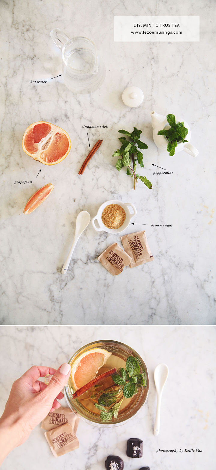 Cinnamon Peppermint Citrus Tea