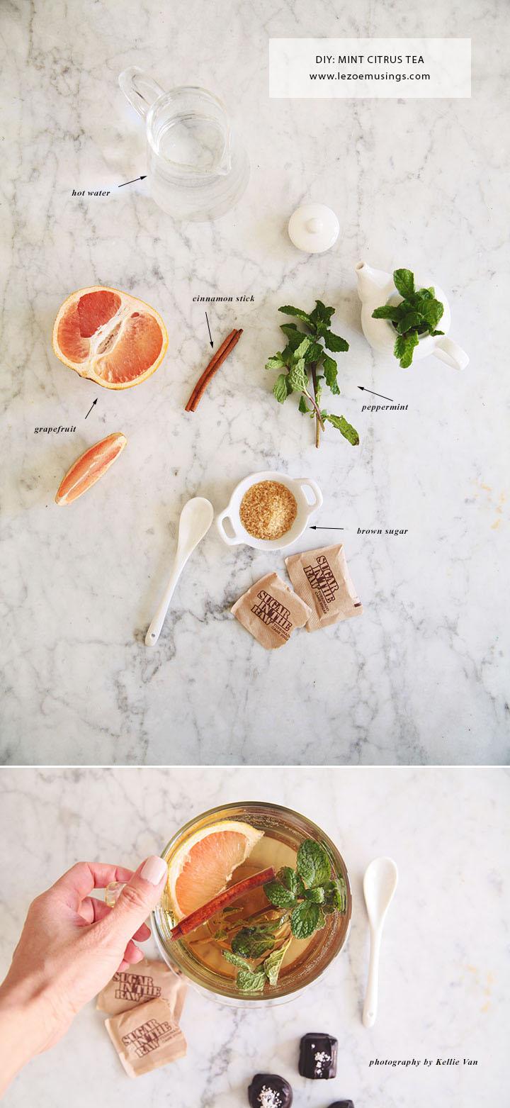 Cinnamon Peppermint Citrus Tea