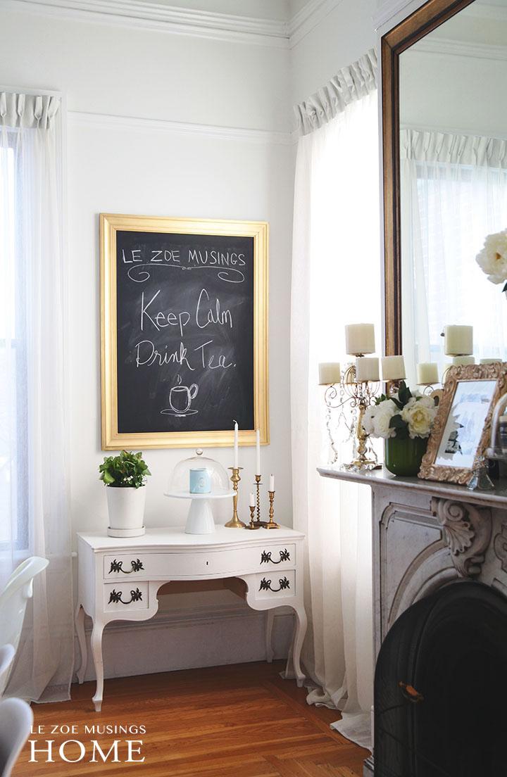 Home_DIY chalkboard by Le Zoe Musings