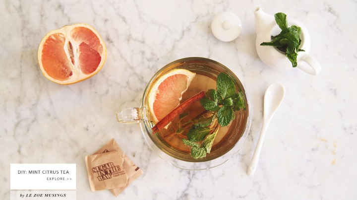 Mint Citrus Tea by Le Zoe Musings Banner