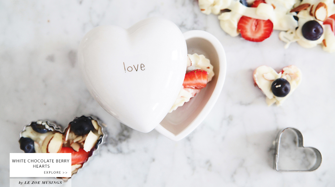 White Chocolate Berry Hearts by Le Zoe Musings Banner