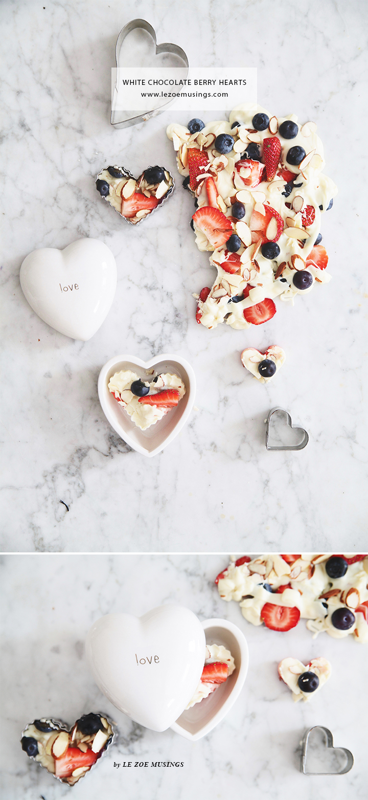 White Chocolate Berry Hearts Valentine's Treats by Le Zoe Musings3