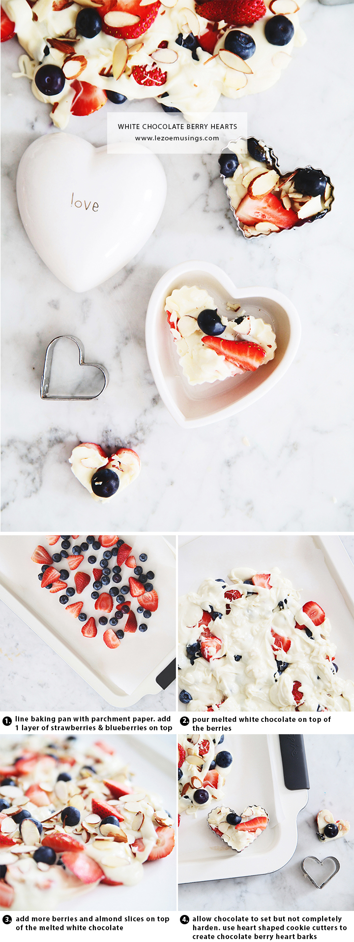White Chocolate Berry Hearts Valentine's Treats by Le Zoe Musings_steps