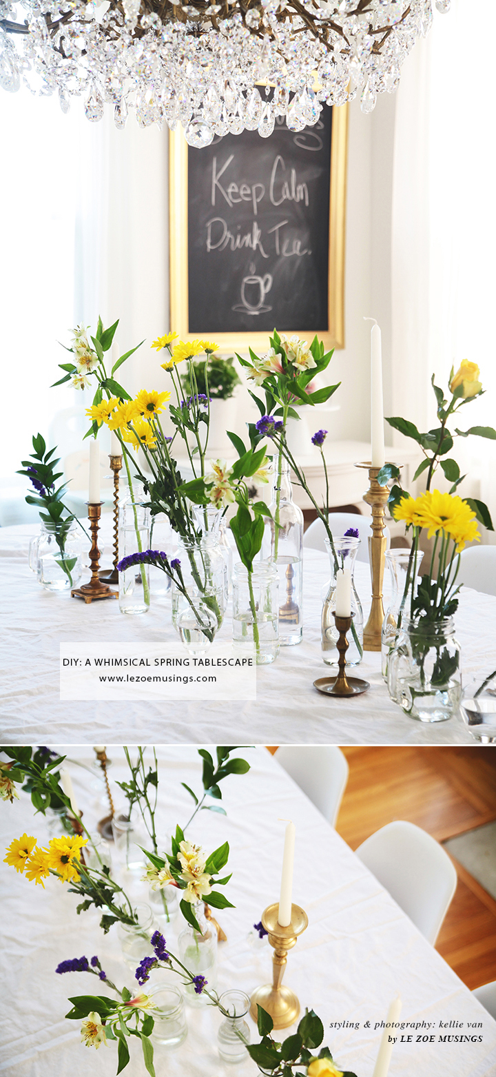 DIY A WHIMSICAL SPRING TABLESCAPE by LE ZOE MUSINGS 4