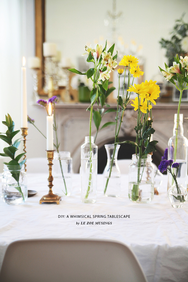 DIY A WHIMSICAL SPRING TABLESCAPE by LE ZOE MUSINGS 8
