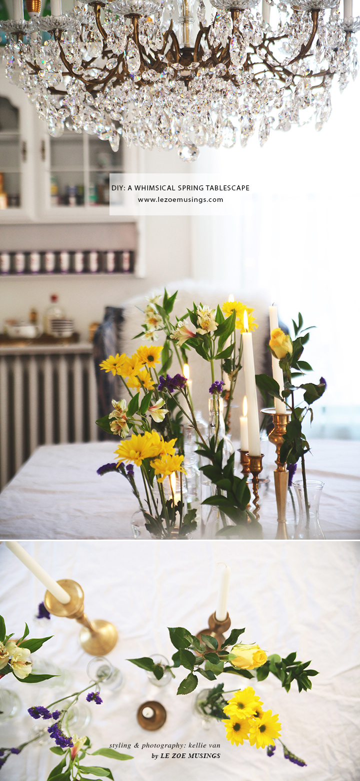 DIY A WHIMSICAL SPRING TABLESCAPE by LE ZOE MUSINGS