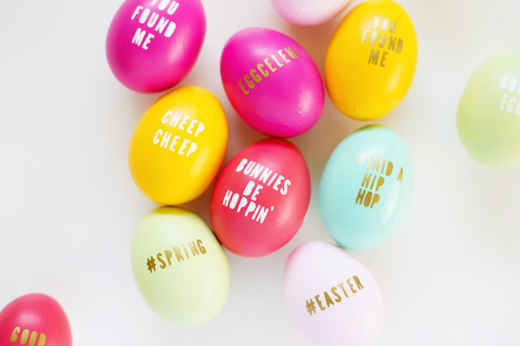 diy gold letter eggs 2