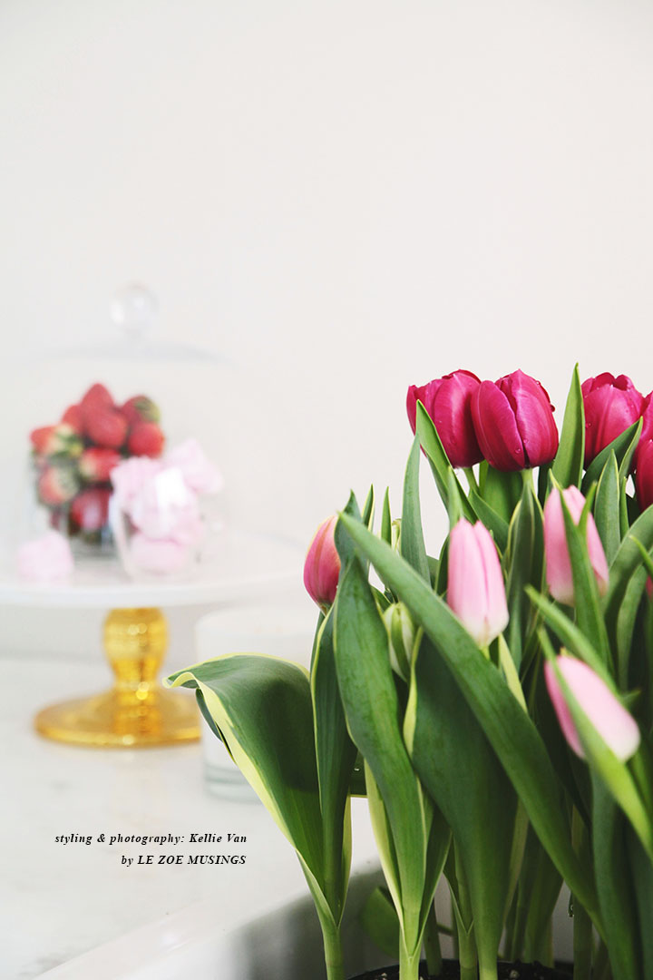 Spring Tulips in a White Kitchen by Le Zoe Musings 5 copy
