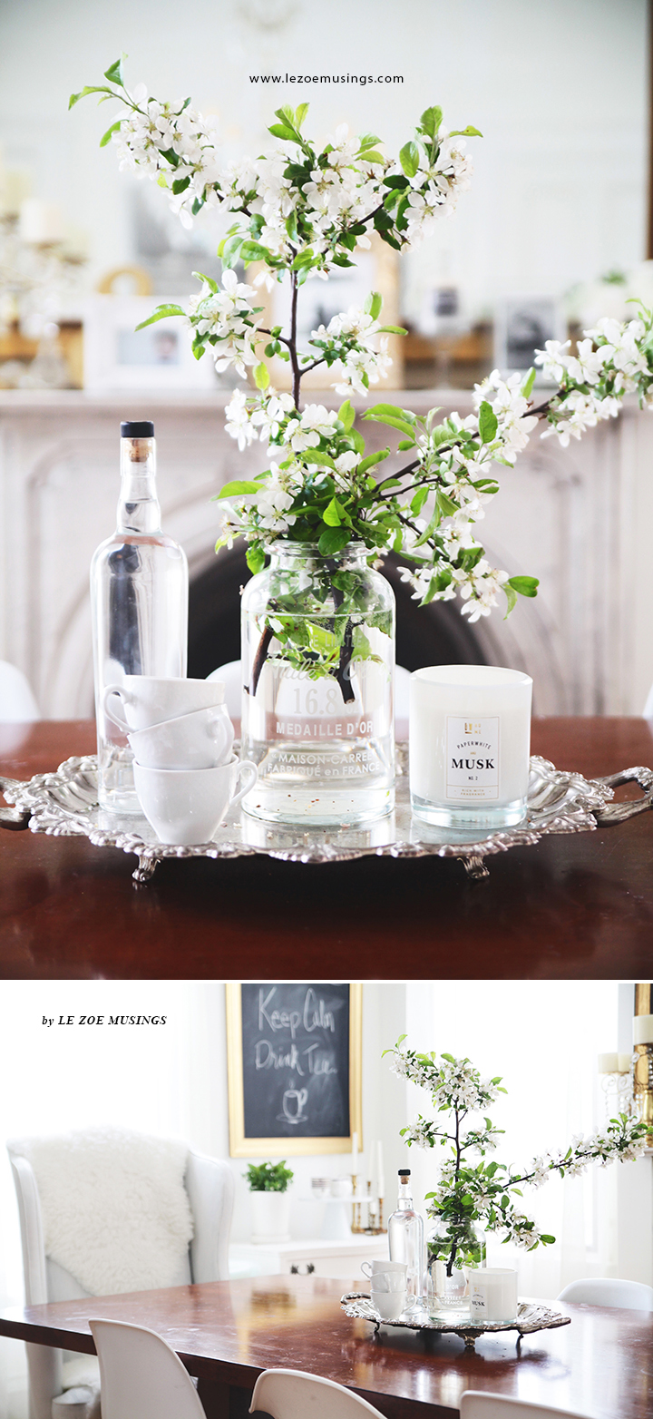 Cherry Blossoms in Dining Room by Le Zoe Musings