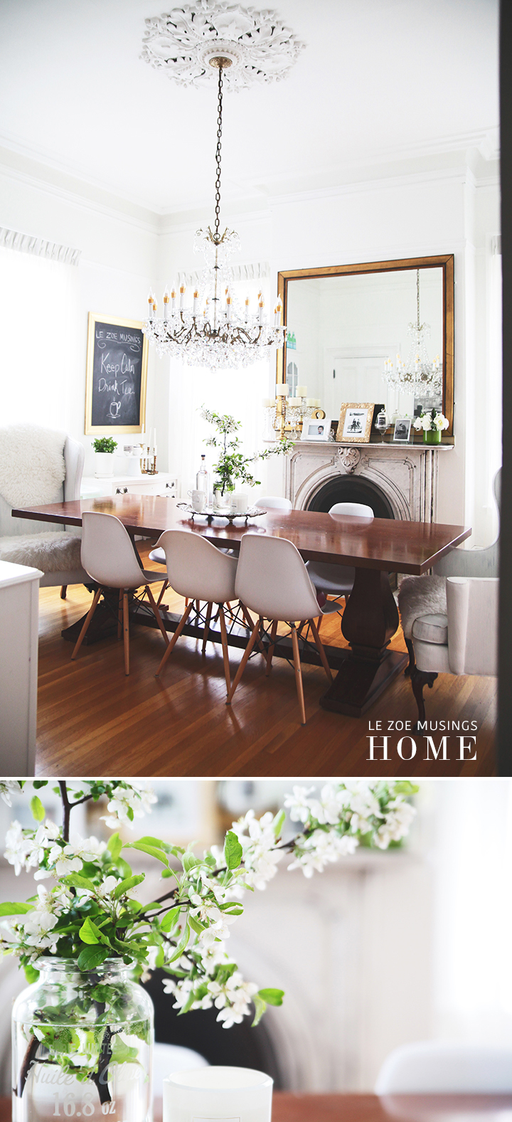 Cherry Blossoms in Dining Room by Le Zoe Musings2