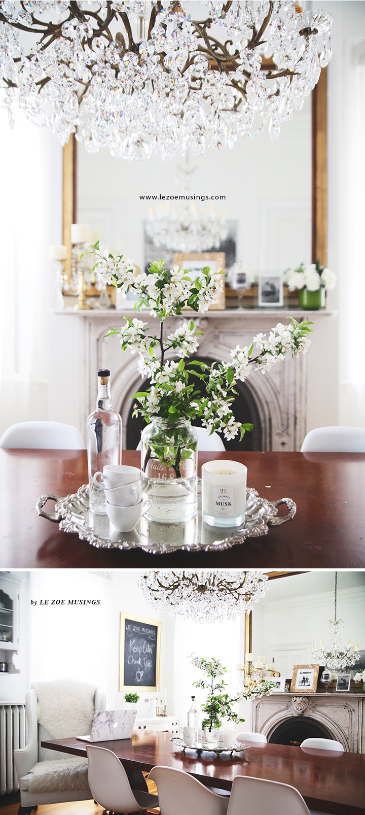 Cherry Blossoms in Dining Room by Le Zoe Musings3