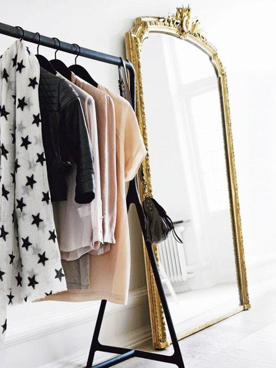 closet with mirror