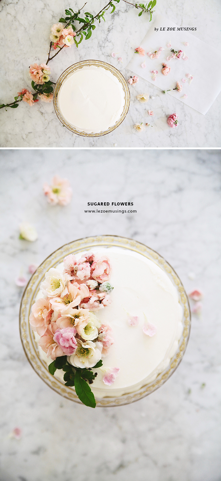 DIY Sugared Edible Flowers_by Le Zoe Musings F