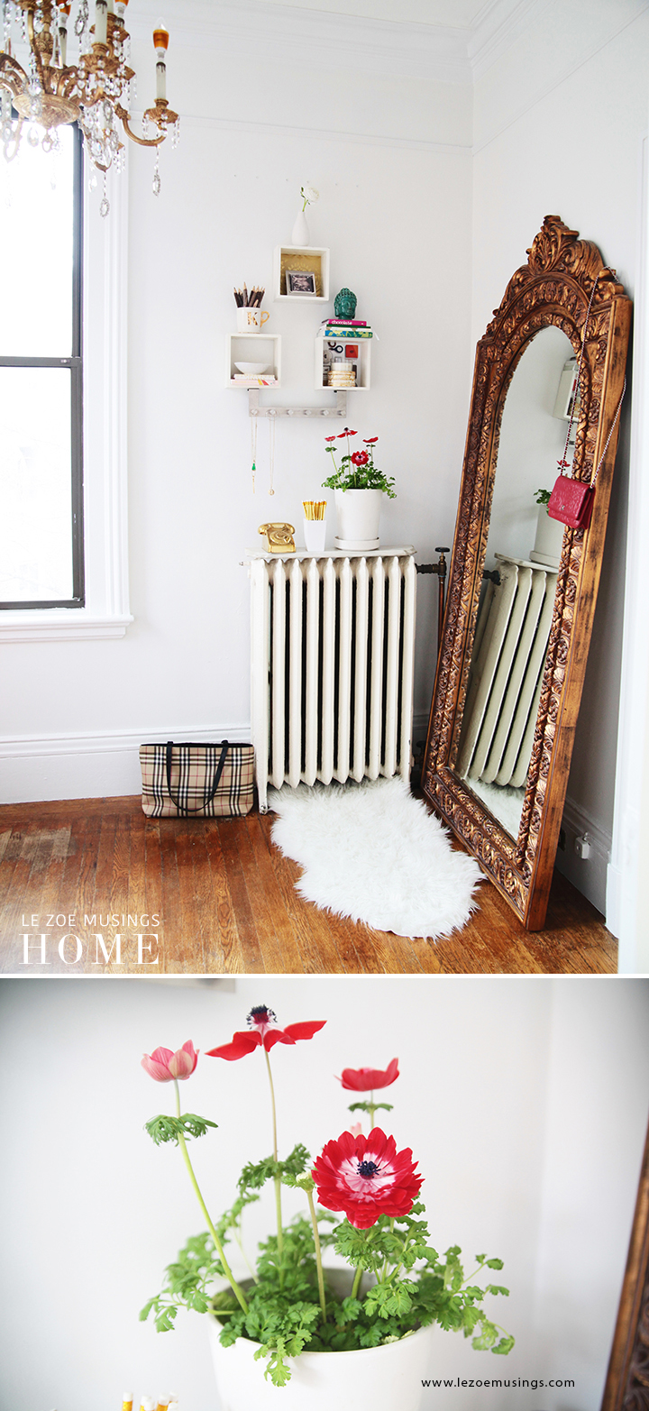 Home Office with Gold Mirror by Le Zoe Musings8