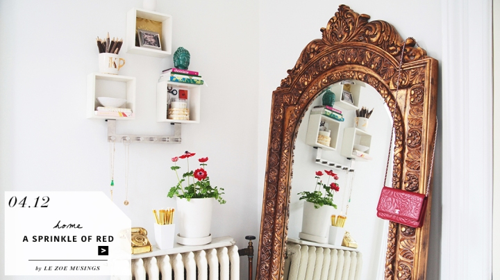 Home Office with Gold Mirror Feauture_by Le Zoe Musings