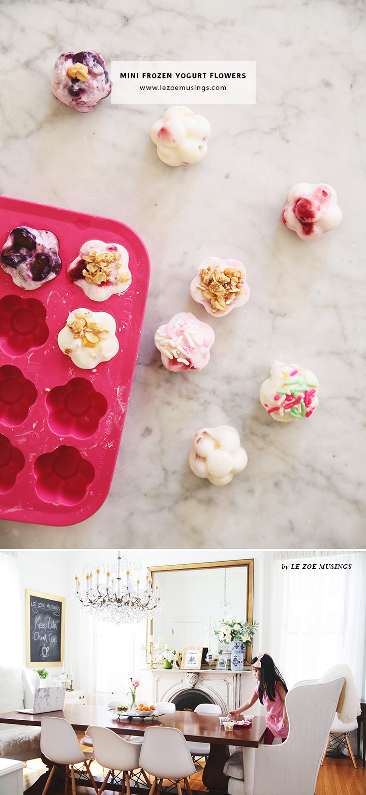 Mini Frozen Yogurt Flowers5_ by Le Zoe Musings