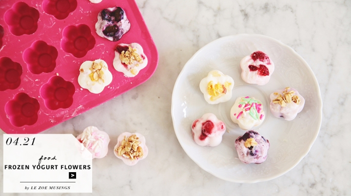 Mini Frozen Yogurt Flowers_by Le Zoe Musings_feature