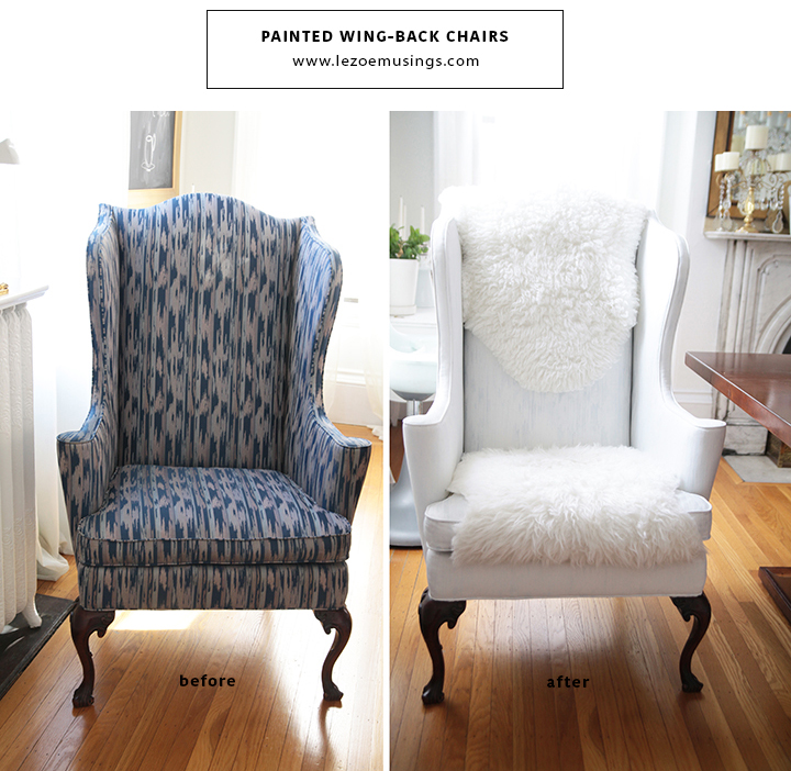 Painted Wing Chairs by Le Zoe Musings