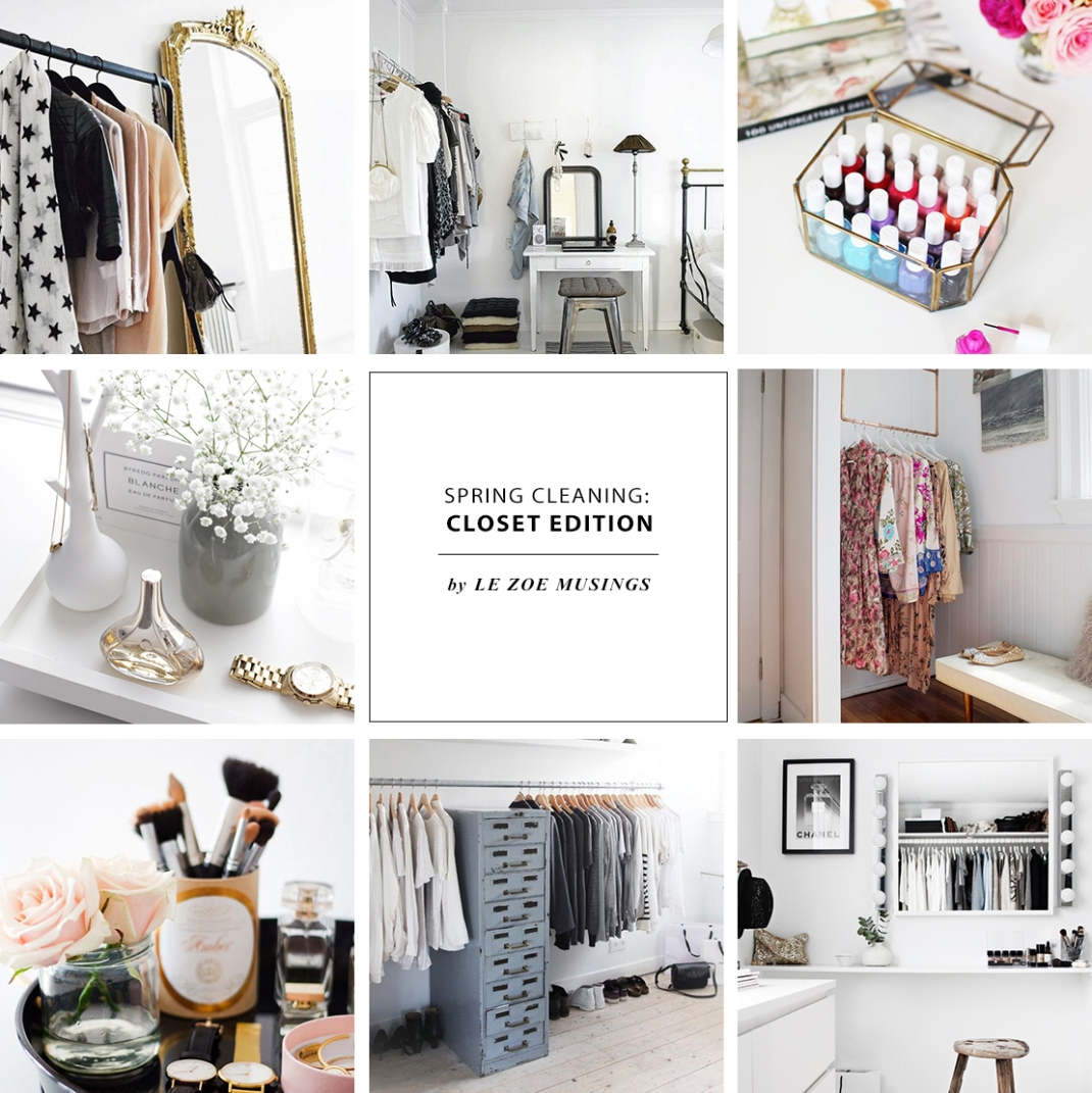 spring cleaning: closet edition | le zoe musings