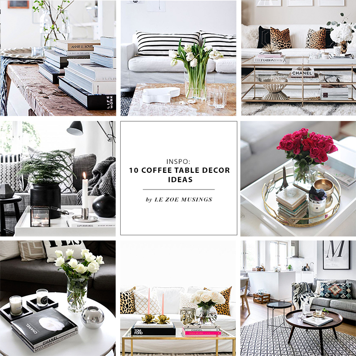 Coffee Table Decor Roundup