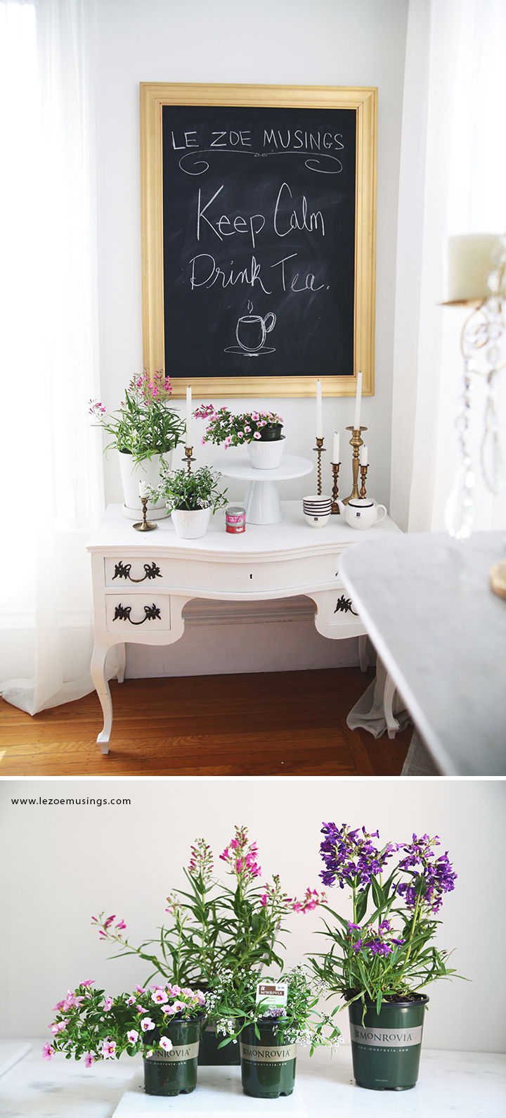 My Bloom-tiful Buffet Table by Le Zoe Musings 5