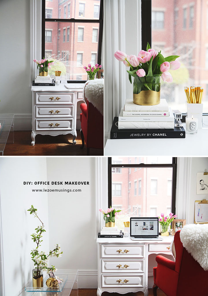 Thrifted Office Desk Makeover by Le Zoe Musings 10