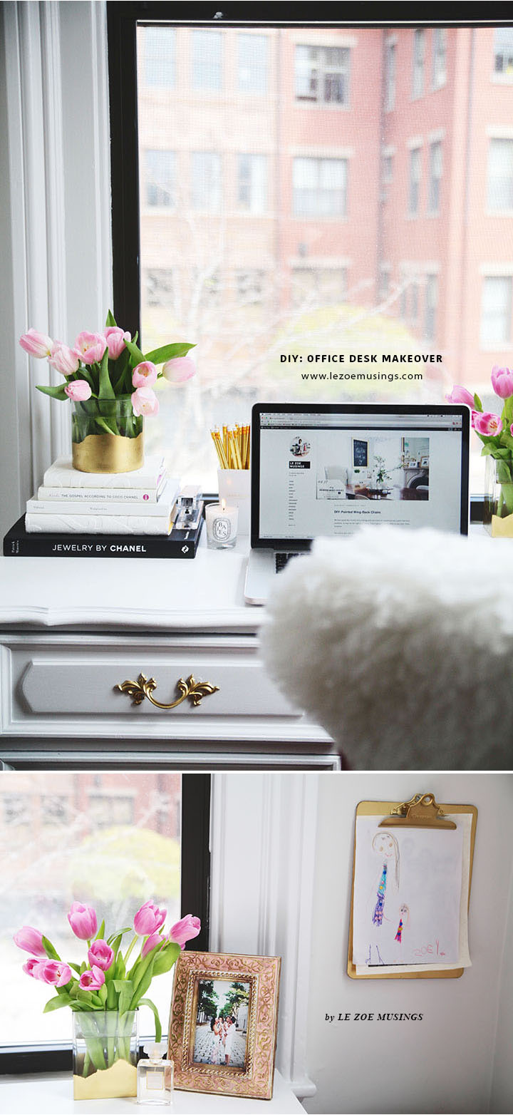 Thrifted Office Desk Makeover by Le Zoe Musings 9