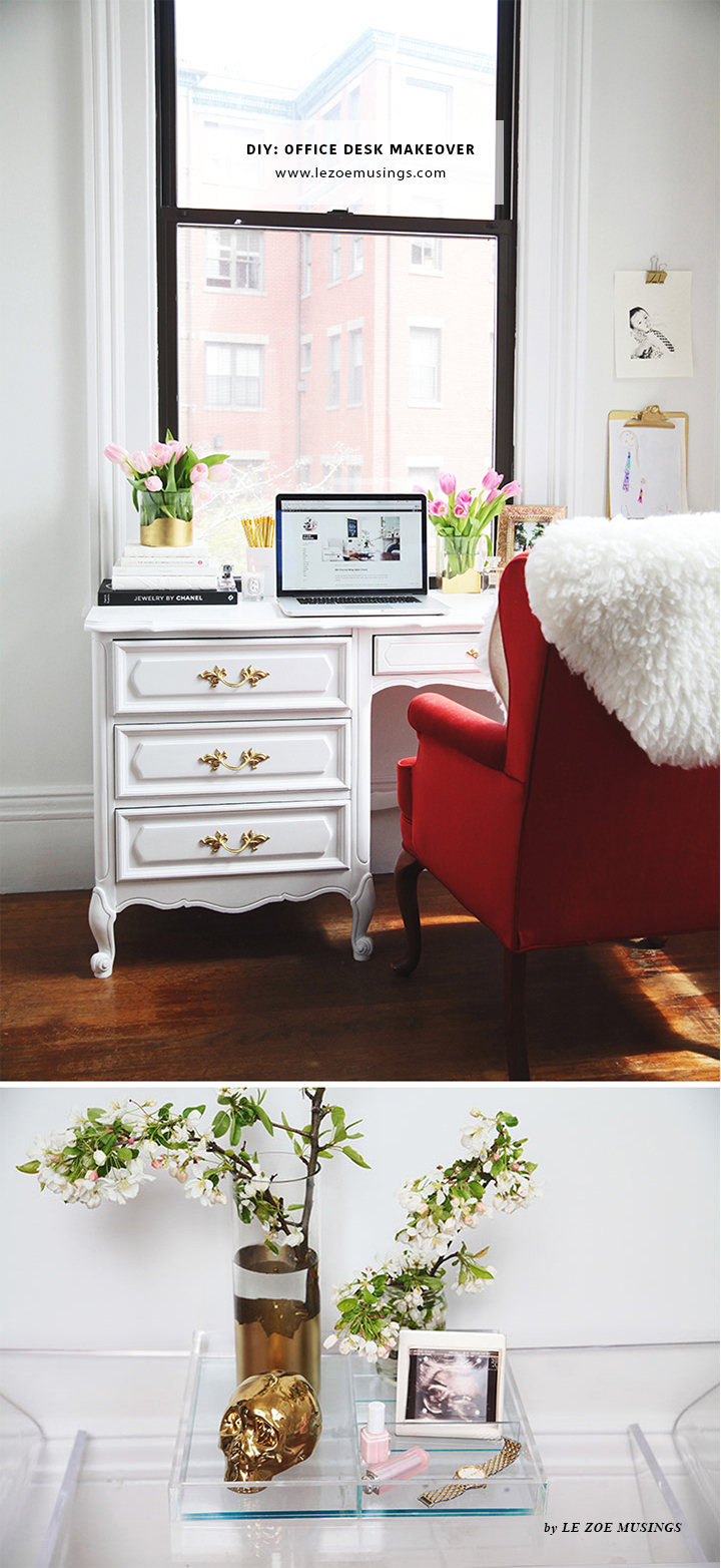 Thrifted Office Desk Makeover by Le Zoe Musings2