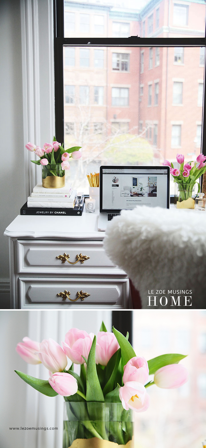 Thrifted Office Desk Makeover by Le Zoe Musings4