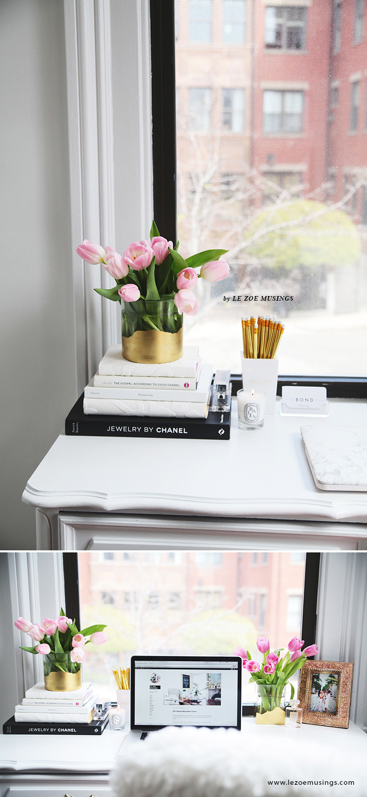 Thrifted Office Desk Makeover by Le Zoe Musings6