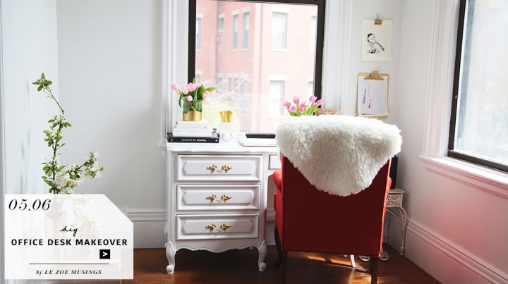 Thrifted Office Desk Makeover by Le Zoe Musings_Feature